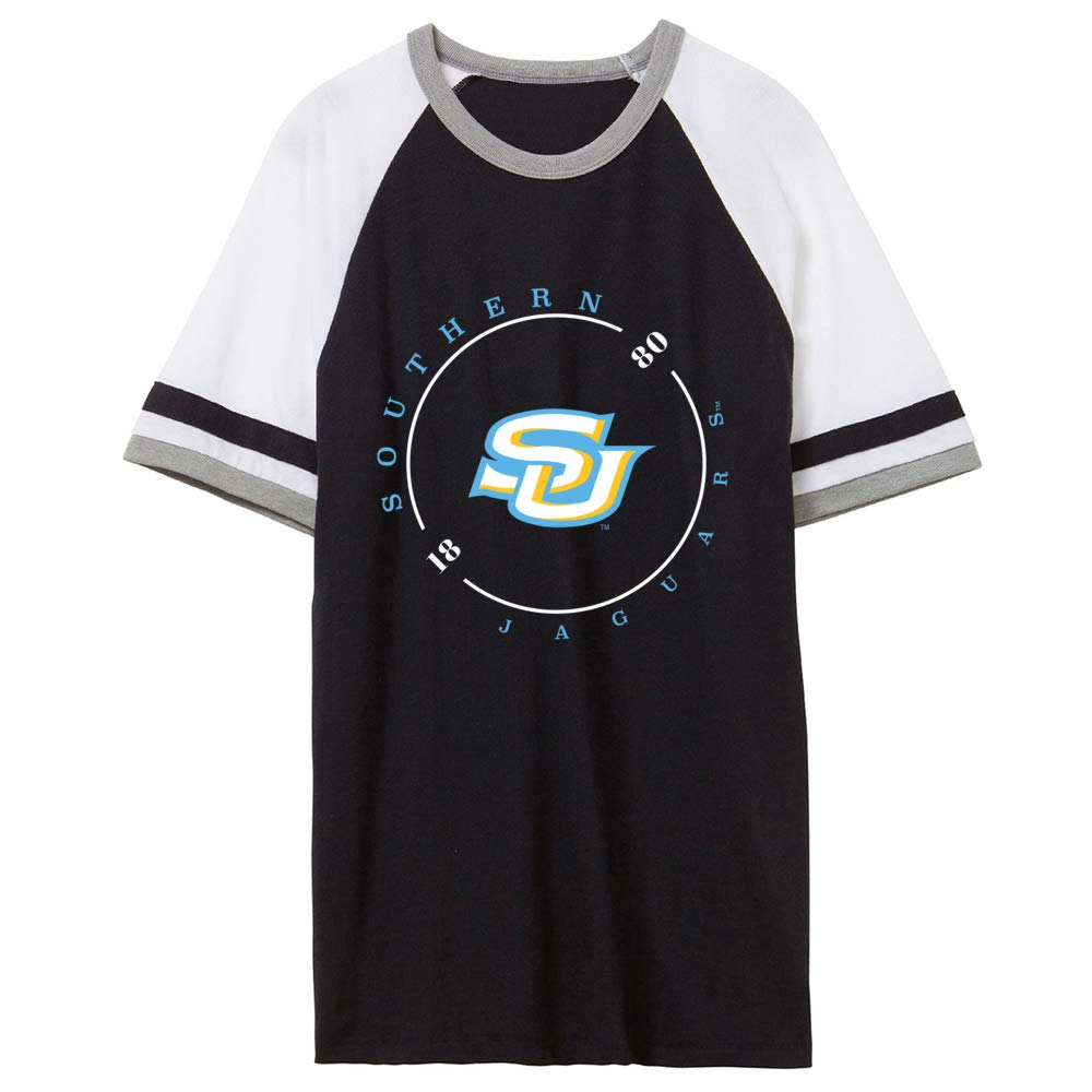 NCAA Southern Jaguars RYLSOU11 Unisex Slapshot Vintage Jersey T-Shirt