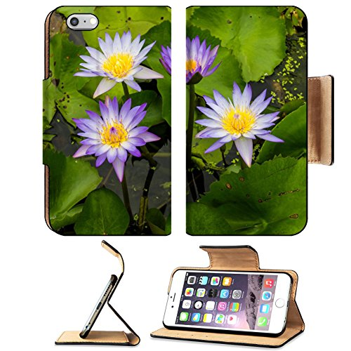Liili Premium Apple iPhone 6 Plus iPhone 6S Plus Flip Pu Leather Wallet Case Seth purple lotus grow beautifully on your water garden in Thailand - Watergardens Shops