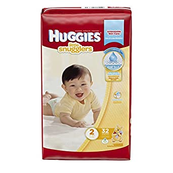 Huggies Little Snugglers Diapers Jumbo, tamaño 2, 12 - 18 lbs, 40765 ...