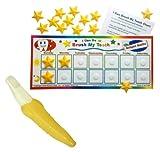 Baby : Kenson Kids Brush My Teeth Reward Chart with Banana Brush Toddler Toothbrush