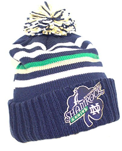 NCAA Licensed Notre Dame Washington D.C. Shamrock Series Cuffed Pom Beanie Hat Cap Lid