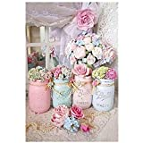 Amaping DIY 5D Diamond Painting by Number Kits Crystal Rhinestone Beads Pasted Embroidery Cross Stitch Kits Embellishment Arts Craft for Home Wall Hanging Decor (Flowers)