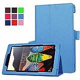 ZOC Funda de Piel sintética Tablet Lenovo Tab 3 7.0 710F Tab3 7 Essential (710F) DE 7,0 Pulgadas función Atril, Azul Claro
