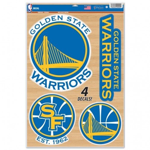 - WinCraft NBA Golden State Warriors WCR87247014 Multi-Use Decal, 11