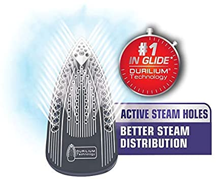 Ceramic Flat Iron Renewed Scratch Resistant T-fal Steam Anti-Drip and Auto-Off System Blue 1700 Watt