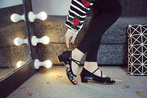 Noir de Lacets à Chaussures Femme pour Ville Lazutom aOz0wq7n