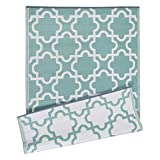 lattice under deck DII Moroccan Indoor/Outdoor Lightweight, Reversible, & Fade Resistant Area Rug, Use For Patio, Deck, Garage, Picnic, Beach, Camping, BBQ, Or Everyday Use - 4 x 6', Green Lattice