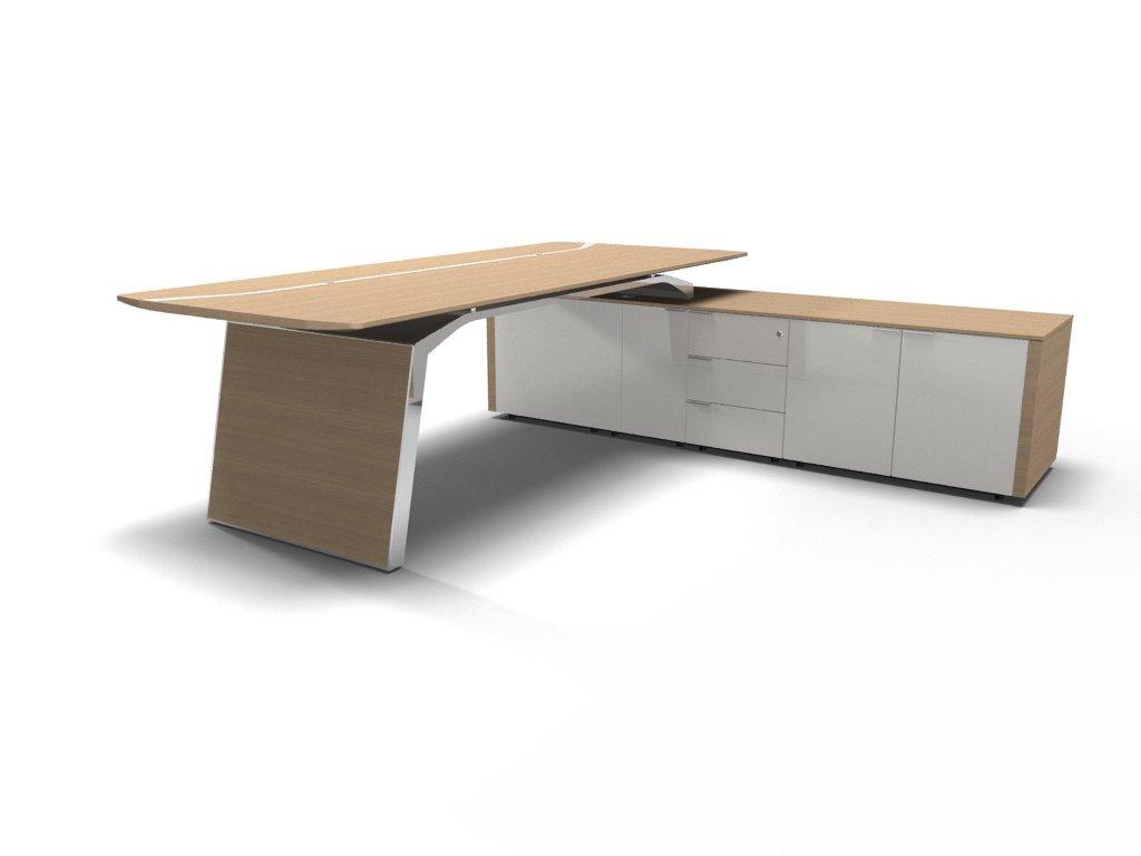 Schreibtisch mit Sideboard Metar, komplett, Design Büromöbel ...