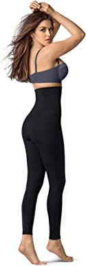 Leonisa ActiveLife Max Power Extra-High-Waisted Firm Compression Shapewear Leggings Activewear Pants for