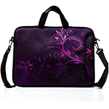 "10-Inch Laptop Shoulder Bag Sleeve Case with padded handle for 9.6"" 9.7"" 10"" 10.1"" 10.5"" Ipad/ Netbook/ Tablet/ Reader (Purple)"