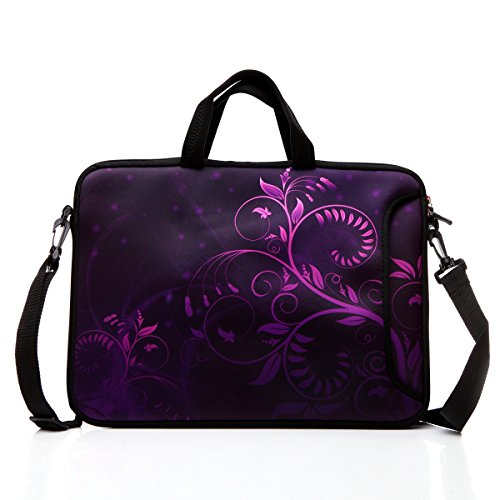 15.6-Inch Laptop Shoulder Bag Case Sleeve With Handle and extra pocket For 14 14.1 15 15.6 Inch MacBook/Ultrabook/HP/Acer/Asus/ Dell/Lenovo/Thinkpad (Purple)