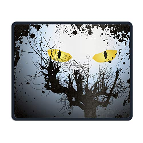 Halloween Scary Eyes Mouse Pad Customized Non-Slip Rubber Mousepad for Gaming
