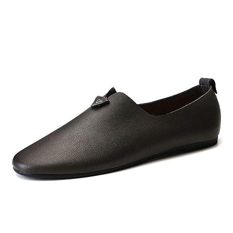 Jiuyue-shoes Mocasines de Unidad para Hombre, Mocasines para Botes con Pedal de pie