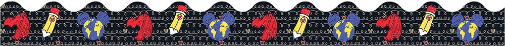 Eureka Disney Mickey Mouse School Supplies Bulletin Board Trim and Classroom Decoration for Teachers, 12pc, 3.25'' W x 37'' L