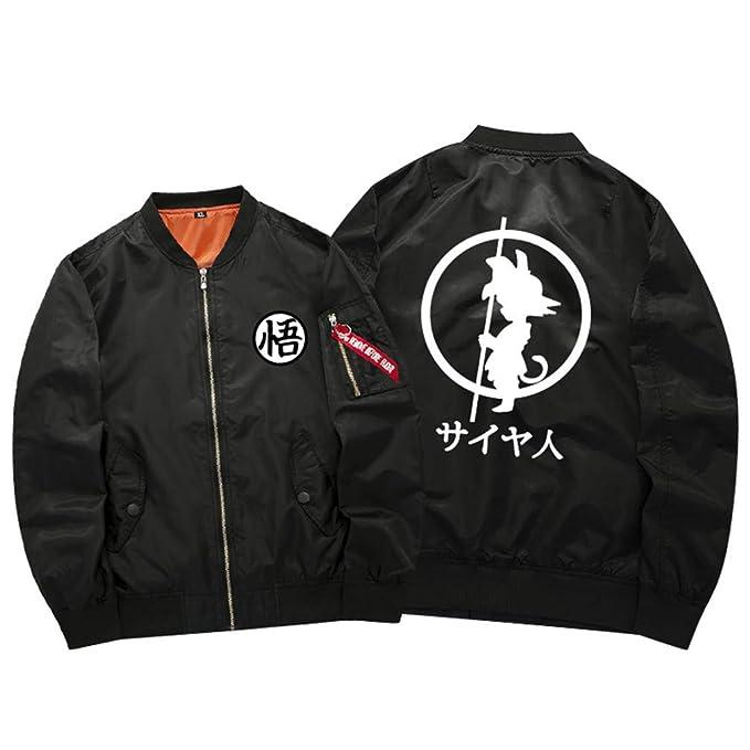 Cosstars Dragon Ball Anime Chaqueta Bomber Jacket para Hombre y Mujer Cosplay Disfraz Espesar Sudaderas Outwear Abrigo: Amazon.es: Ropa y accesorios