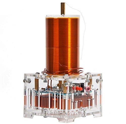 (Joytech Music Tesla Coil Acrylic Base Shell Arc Plasma Loudspeaker Wireless Transmission Experiment Desktop Toy Model XX01)
