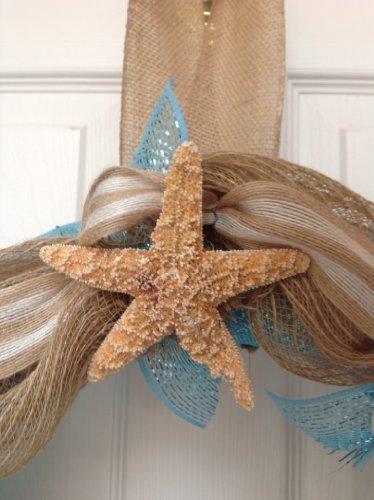 Beach-Seashore-Door-Welcome-Wreath-Real-Sand-Dollars-Starfish-Slim
