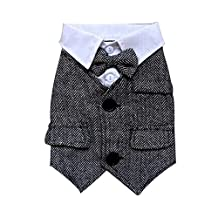 Dog Apparel Pet Clothing Puppy Clothes Gentleman Shirt, Bust 52cm