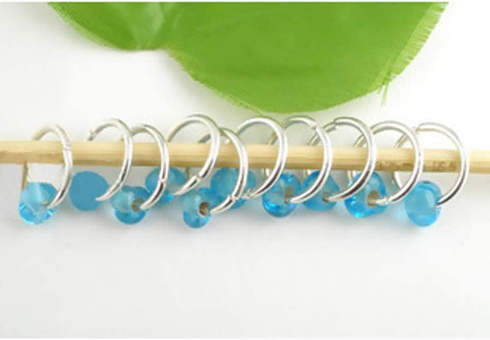 PEPPERLONELY Brand 10PC Glass Lampwork Knitting Stitch Markers 10mm
