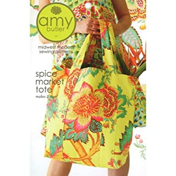 Amazon.com: Amy Butler Spice Market Tote Bag Sewing Pattern: Home ...