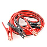 ALEKO CH-NA004 Heavy Duty 6 GA Booster Cable Jumping Cables Power Jumper Auto Battery Booster Cables CCA, 12' L