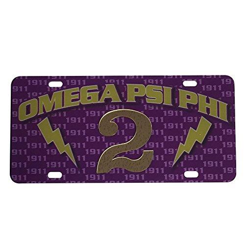 Omega Psi Phi License Plate - 9