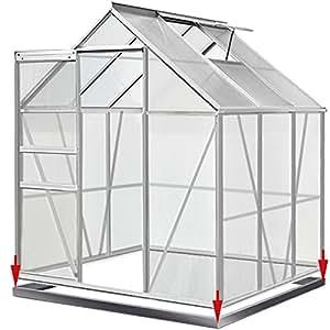 Invernadero de jardín, 5,85m³, con 1ventana, marco de acero