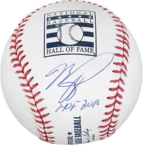 Mike Piazza Signed Baseball - Hall Of Fame Logo Dodgers Hologram - Autographed Baseballs by Sports Memorabilia