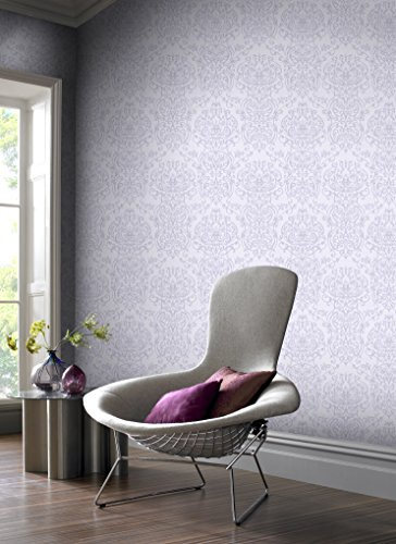 (Graham & Brown 101870 Empress Damask Lilac Wallpaper,)