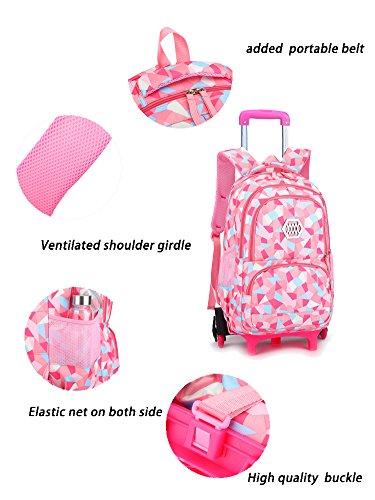 Meetbelify Kids Rolling Backpacks Luggage Six Or Two Wheels Unisex ... 4d250bbbcedb8
