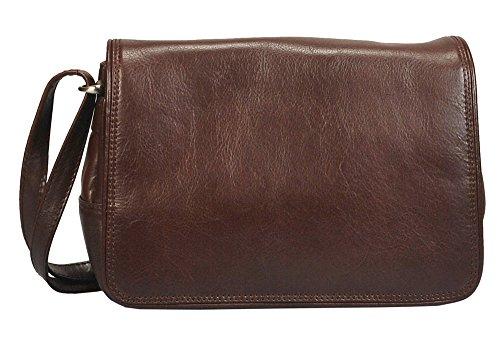 """Vilenca """"80080 Marrone """" Signore borsa a tracolla, borsa di cuoio per le donne, Dimensioni-L29cmxH18cmxB9cm"""