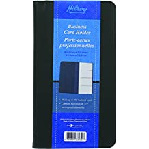 Hilroy 33432 Business Card Holder, 5-3/8x9-5/8-Inch, Holds up to 272 Cards, Black