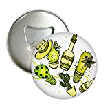 Sombrero Mexico Desert Cactus Mexican Round Bottle Opener Refrigerator Magnet Pins Badge Button Gift 3pcs