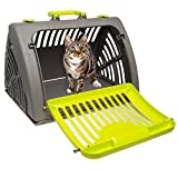 Pet Solutions Collapsible Pet Carrier for Cats, Pet Carrier for Small Dogs Up to 25 Pounds, Hard Plastic Cat Carrier, Dog Carrier Folding for Travel and Storage