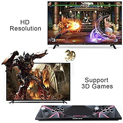 JJZXLQ 2700 Games in 1 Arcade Box 3D 9S Classic Arcade Games Console Machine 2 Players Multiplayer Home Arcade Game Console for PC & TV: Home & Kitchen