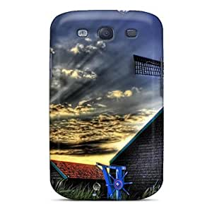 Awesome MsAcKCr8869oPQVV Jesussmars Defender Tpu Hard Case Cover For Galaxy S3- Village By The Lake
