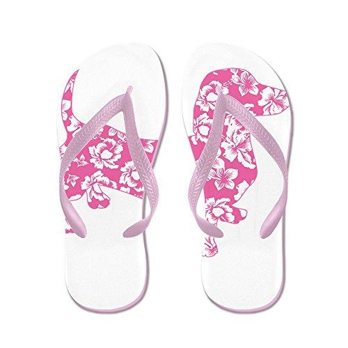 Cafepress Hawaiian Roze Doxie Teckel - Flip Flops, Grappige String Sandalen, Strand Sandalen Roze