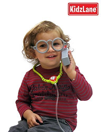 Durable Kids Doctor Kit with Electronic Stethoscope and 12 M