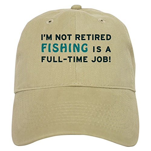CafePress Retired Fishing Baseball Adjustable