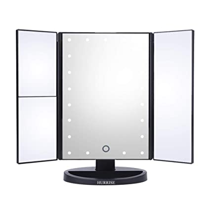 3 Fold Mirror Led Light Makeup Mirror Light Magnifying Touch Screen Dimmable Vanity Table Desktop Led Lamp Lights & Lighting