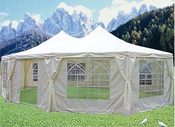 PeaktopR 29 X21 Heavy Duty Outdoor Decagonal Party Wedding Tent Gazebo Canopy Water