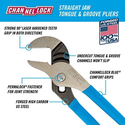 CHANNELLOCK HD-1 Ultimate 4-Piece Pliers Set   Made in USA   Forged High Carbon Steel   Includes Tongue & Groove…