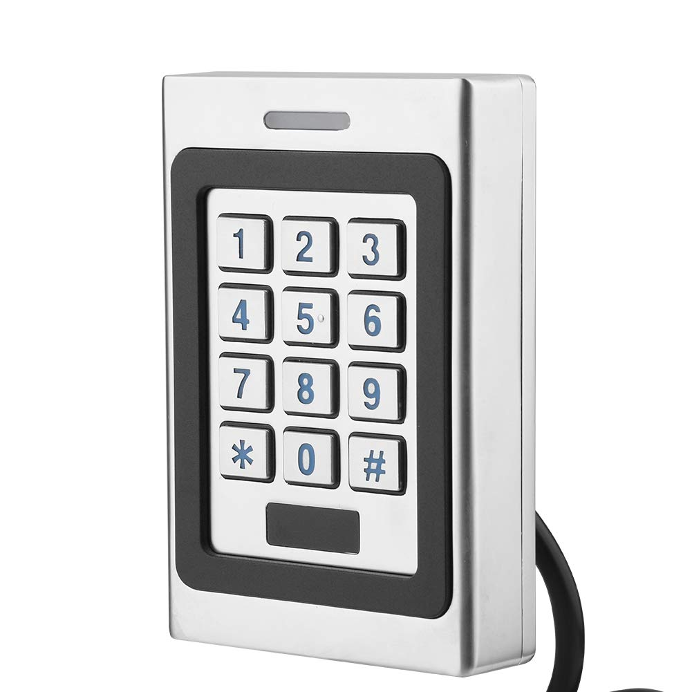 Door Access Controller Waterproof IP68 RFID Card Door Access Controller Keypad Security Door Access Control System for 2000 Users, Intelligent Key Board 3 Options to Open Door