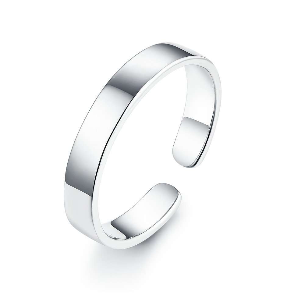 925 Sterling Silver Stackable Ring Classic Minimalist Adjustable Knuckle Toe Band for Women Girls Men Kokoma