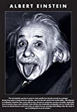 Albert Einstein Tongue, Quote Art Print Poster - 24x36