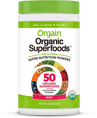Orgain Essential Superfoods, Berry, 0.62 Pound, 1 Count, Vegan, Non-GMO, Gluten Free