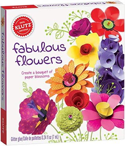 Klutz Fabulous Flowers Craft Kit, Brown/a