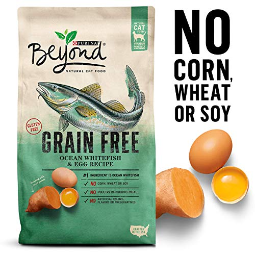 Purina Beyond Grain Free, Natural Dry Cat Food; Grain Free Ocean Whitefish & Egg Recipe - 11 lb. Bag ()