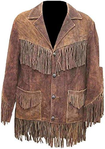 Fringed Leather Coat - 6