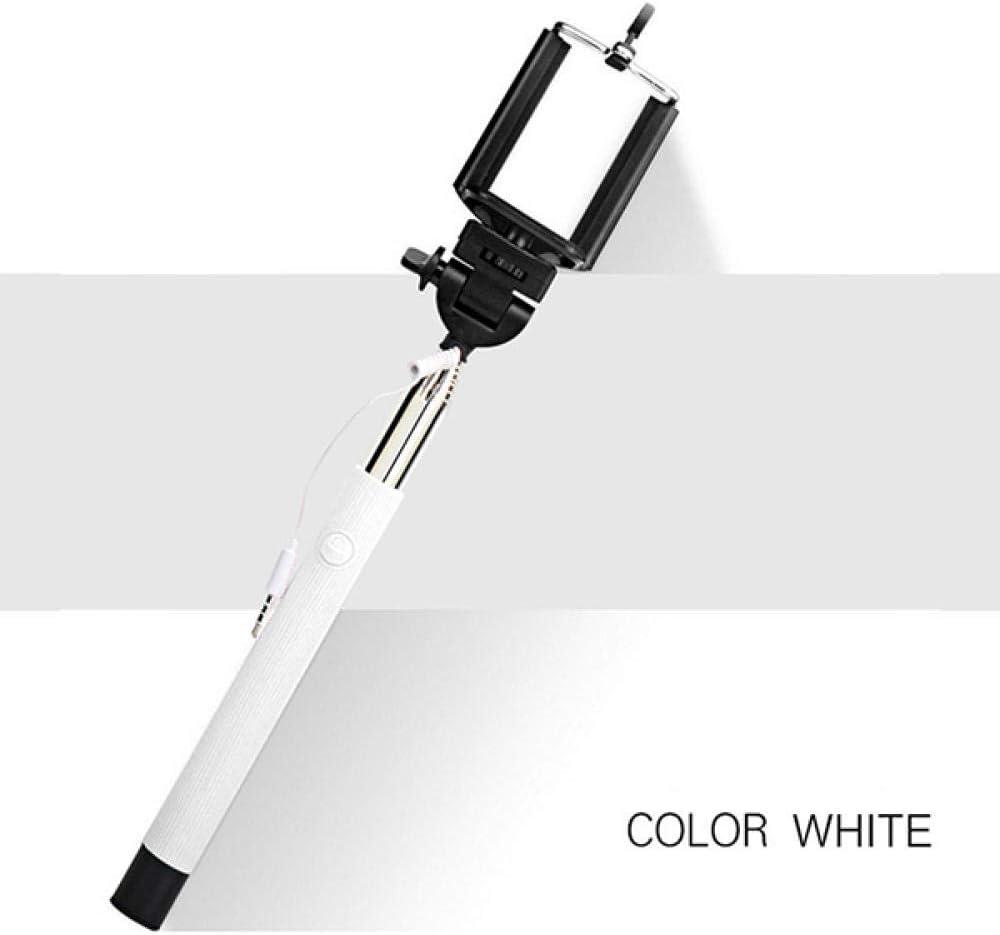 HNKHKJ Mini Self Stick Tr/ípode Cable con Cable Plegable Selfie Stick Cable Extensible Obturador Incorporado Stick para iPhone Samsung Huawei-Rosa